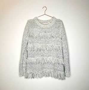 Urban Outfitters Blu Pepper》 Gray Fringed Sweater